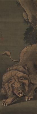 「獅子図」