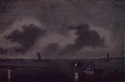 「品川沖夜釣」